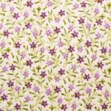 Tela patchwork: florecitas en morado y lila