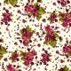 Tela patchwork ramos de rosas en color vino