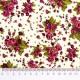 Tela patchwork ramos de rosas en color vino 2