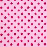 Tela patchwork florecitas frambuesa sobre rosa claro 1