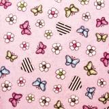 Tela patchwork Gorjuss On Top of the World mariposas sobre malva 1