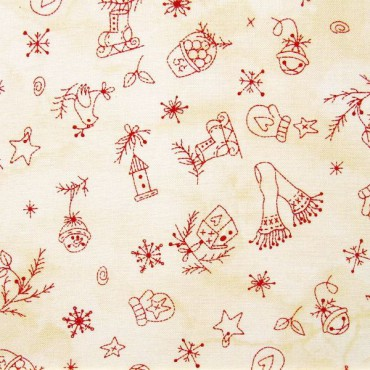 Tela patchwork adornos country de Navidad