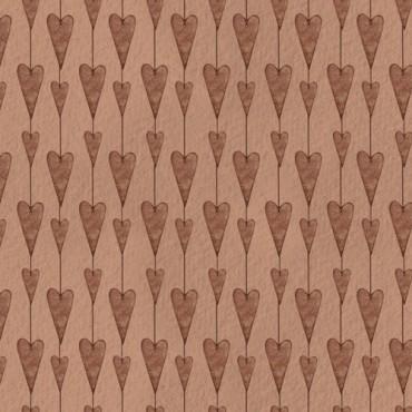 Tela patchwork Mirabelle guirnalda de corazones en terracota