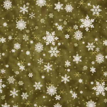 Tela patchwork Father Christmas en verde
