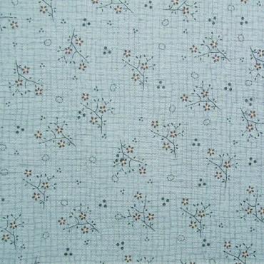 Tela patchwork Needles and Pins ramitas de flores en azul
