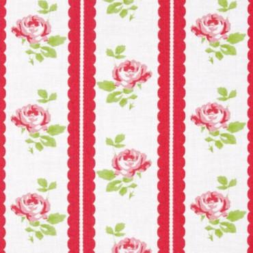 Tela patchwork Lulu Roses cenefa de rosas