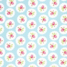 Tela patchwork Lulu Roses medallones con rositas