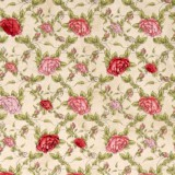 Tela patchwork Mirabelle La Vie en Rose rosas sobre beige