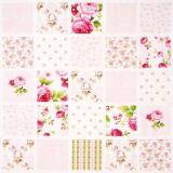 Tela patchwork Symphony Rose cuadros de flores 1