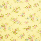 Tela patchwork japonesa Flower Points en amarillo 1