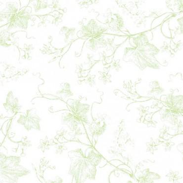 Tela patchwork Harper tallos trepadores en verde
