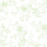 Tela patchwork Harper tallos trepadores en verde 1