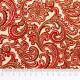 Tela patchwork Chickadees and Berries espirales barrocas en granate 2