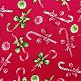 Tela patchwork Christmas Elegance bastones de caramelo 1