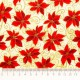 Tela patchwork Holiday Accents Classics poinsetias rojas 2