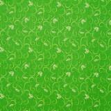 Tela patchwork de Navidad Sparkle filigranas y hojitas en verde 1