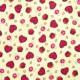 Tela patchwork Gorjuss My Story corazones, setas y manzanas sobre beige