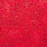 Tela patchwork de Navidad Christmas Bells filigranas en rojo 1