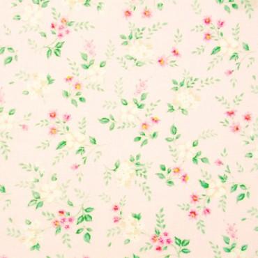 Tela patchwork Sweet Baby Rose flores sobre rosa