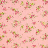 Tela patchwork japonesa Flower Points flores en rosa 1