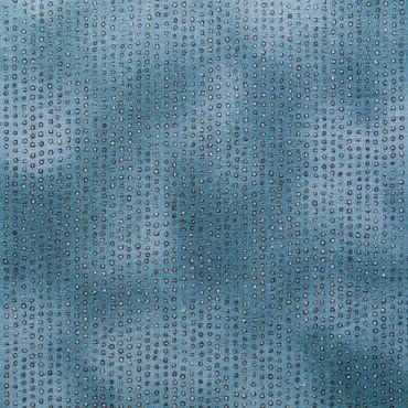 Tela patchwork Gorjuss Rainbow Dreams circulitos en azul