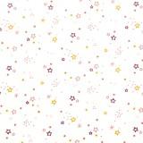 Tela patchwork estrellitas rosas sobre blanco 1